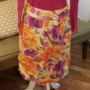 Christopher & Banks floral skirt